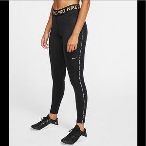 Nike Pro women's metallic warm tights leggings